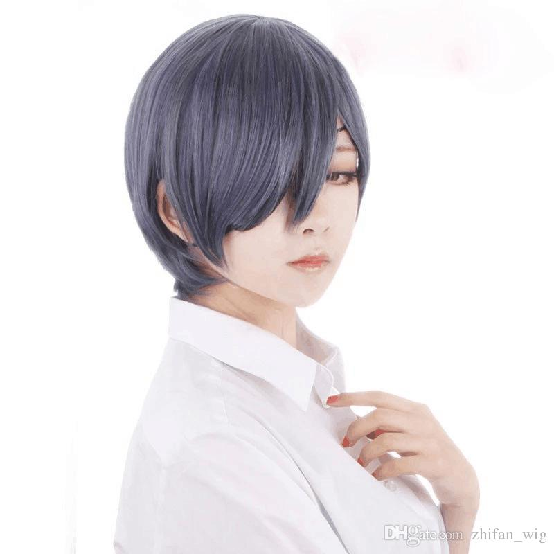 Z F Cosplay 30cm Mixed Color Shot Synthetic Man Cosplay Party Wigs