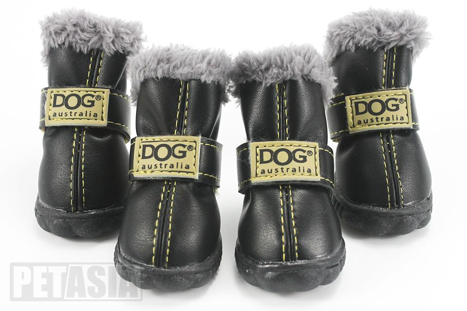PETASIA Pet Dog Shoes Winter 4pcs set Small Medium Dogs Boots Cotton Waterproof Anti Slip XS XL Shoes for Pet Product ChiHuaHua select_960px colors black 2