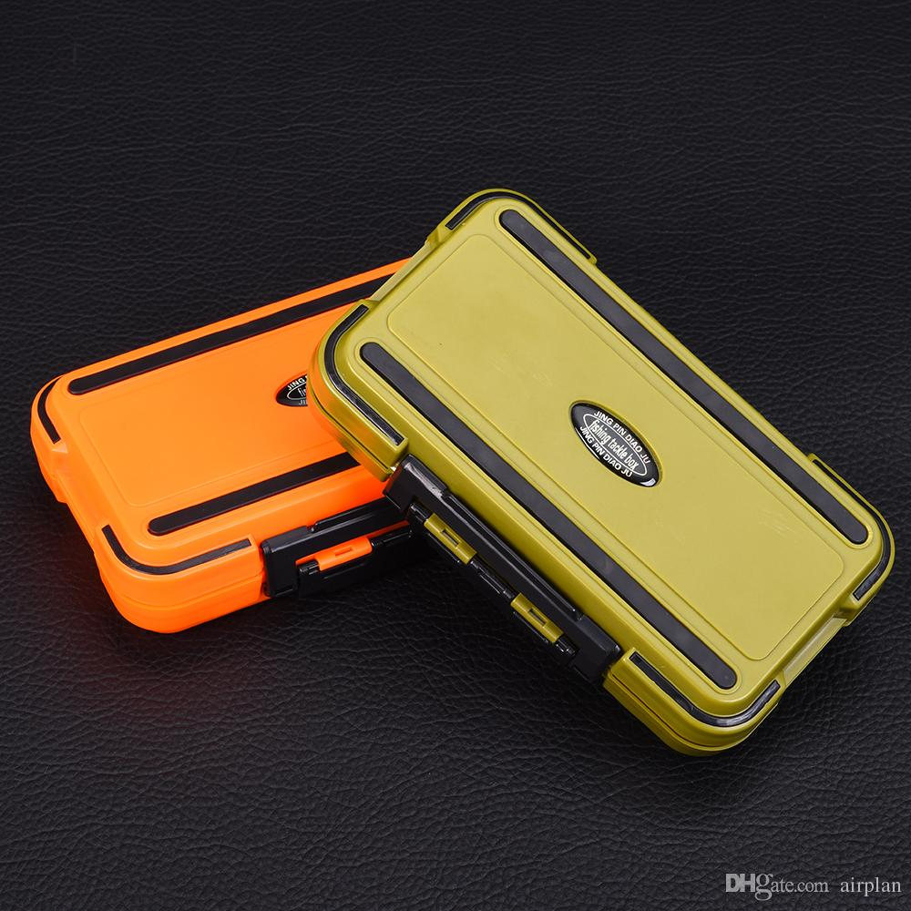 New Arrival 24 Compartments Double Layer 16*9*5cm 2 Colors Plastic Fishing Tackle Box Fishing Box Lure Fishing Box de pesca
