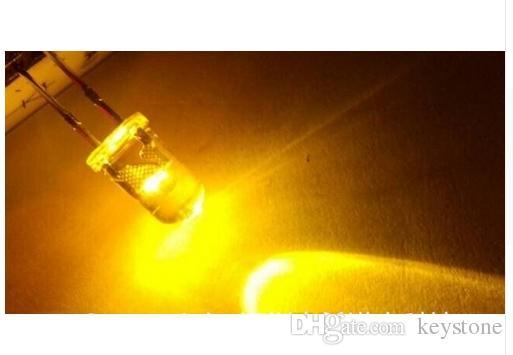 Delikten 1000pcs Noel vb Için 5MM Sarı Mum Titrek LED Diyot
