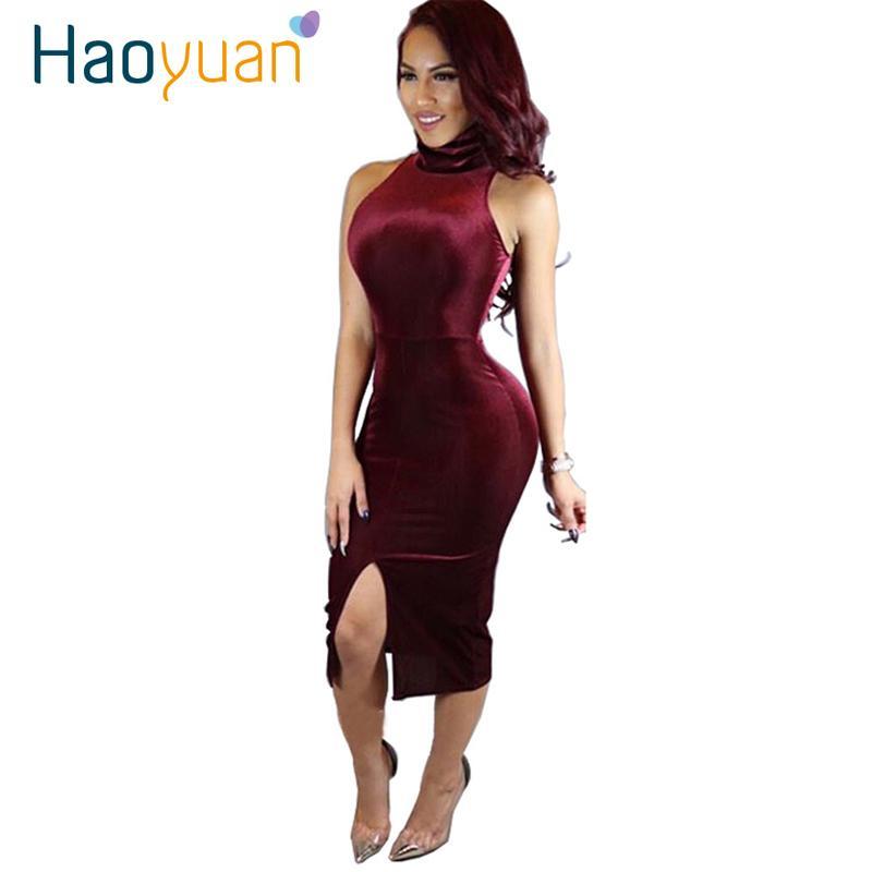 2017 yeni kırmızı kadife dress bayanlar gece kulübü seksi parti elbiseler pembe robe kadınlar sonbahar balıkçı yaka bodycon bandaj dress 17301
