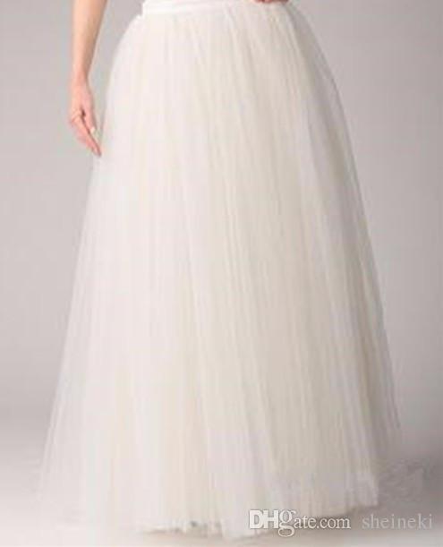 2017 Adult Long Tutu Tulle Under Skirt A Line Petticoat Simple Women Below Waist All Colors 5 layer Floor Length 95cm Plus Size