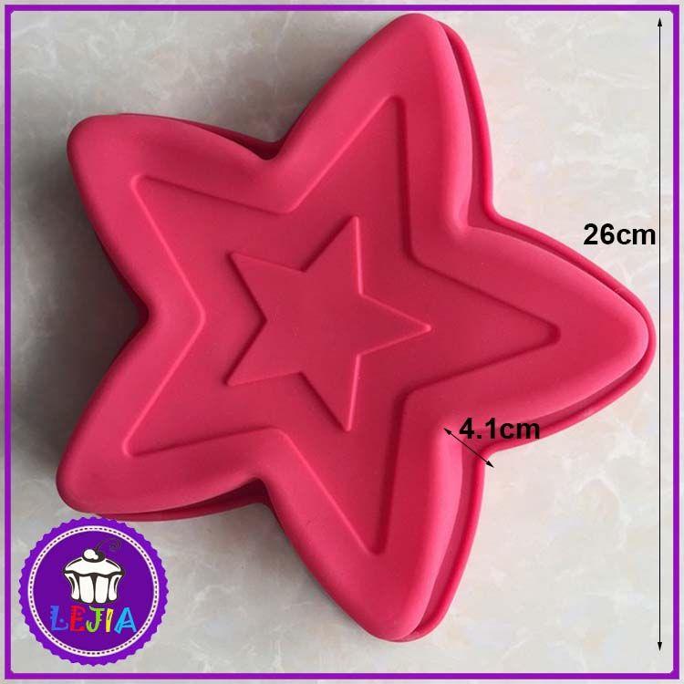 five-pointed star pentagram shape 1 hole Silicone Mold Cake Decoration tools Food Grade cake Moulds baking bakeware