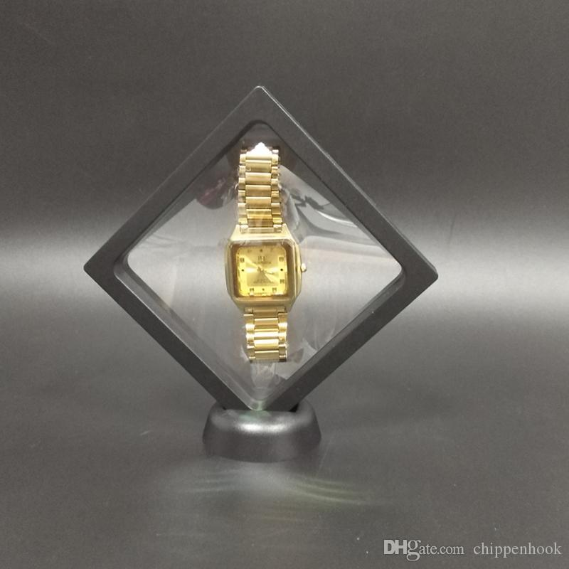 파인 다기능 5 개 쥬얼리 디스플레이 팔찌 목걸이 반지 시계 디스플레이 스탠드 지우기 액세서리 Picture Floating Frame Box 11 * 11 cm