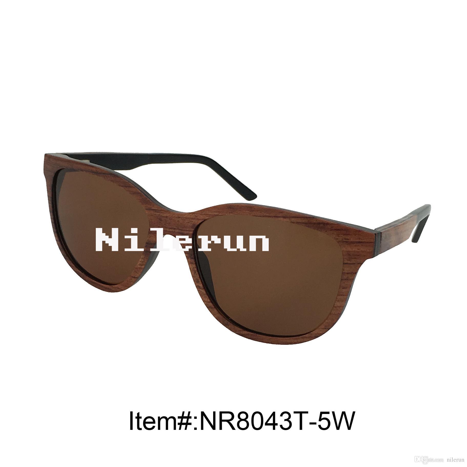 hochwertige große schmetterling geschichtete rote holz sonnenbrille mit UV400 braun polarisierten gläsern