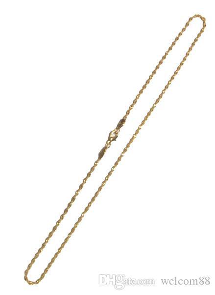 10 pz / lotto 16 pollici collana placcata oro catene per fai da te artigianale moda regalo GO15 SHIPP gratuito
