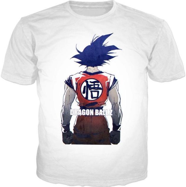 2017 Classic Newest Moda Uomo / Donna Dragon Ball Goku Summer Style Divertente Unisex 3D Stampa Casual T-Shirt S --- 5XL AA467