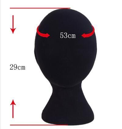 Livraison gratuite en gros 3style Homme Femme Mousse Chauve Homme Mannequin Tête Perruques Chapeaux Lunettes Casque Modèle D'affichage Stand Noir 1 PC B612