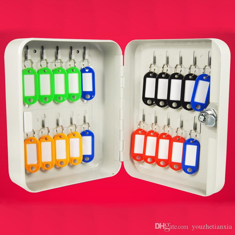 metal key box tool case Storage Bin management car wall-mounted key cabinet with 20 key cards Office Hotel facility Property