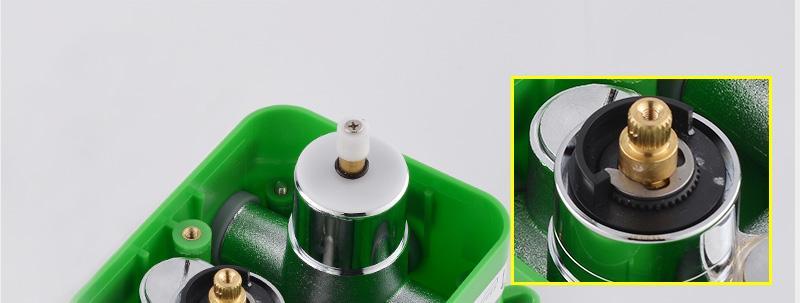 hm Bathroom Shower Head with 4 Ways SUS304 20inch Rain & Mist & Brass Slide Bar & Brass Spout & Brass Handheld Shower Set (20)
