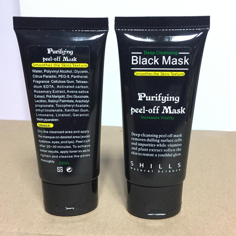DHL SHILLS Siyah Maske Sökücü Siyah Nokta Burun Gözenek Yüz Maskesi Derin Temizlik Çamur Maskesi Arındırıcı Peel Off Akne Siyah Kafaları Kaldırma