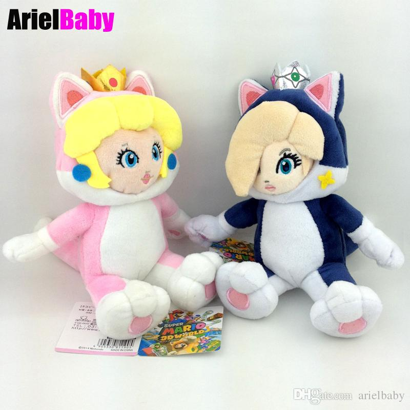 "New Super Mario Cat Rosalina Princess Stuffed Animal Plush Doll Kids Toys Birthday Gifts Approx 18cm/7"" Free Tracking"