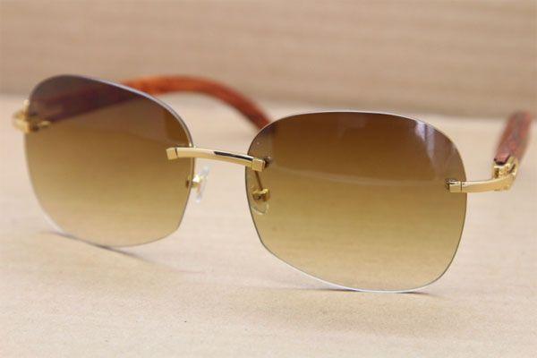 핫 큰 T8100907 남성 선글라스 남성 선글라스 골드 나무 안경 프레임 안경을 운전 C 장식 골드 프레임 안경 크기 : 61-18-135mm