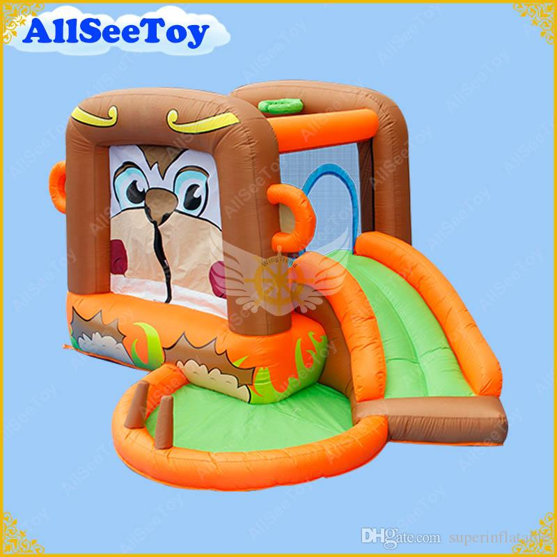 Family Use Inflatable Bouncy Calstle,Bounce House Combo Slide for Kids,Jumping Castle with Air Blower
