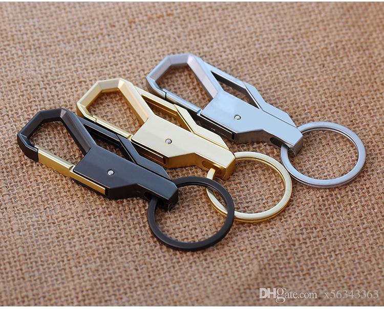 50 قطع شخصية فاخرة دليل المعادن ترصيع المفاتيح سيارة مفتاح سلسلة مفتاح حلقة هدية عيد للرجل المرأة الإبداعية هدية المفاتيح