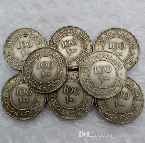 Israël Palestine britannique Mandat 100 Mils Ensemble complet (1927-1942) 8pcs Silver Coin Promotion à bas prix usine Prix belle maison Accessoires Coin