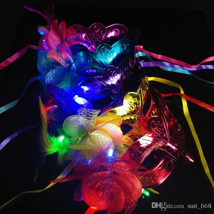 قناع الشعر قناع فلاش ضوء ينبعث منها الرقص ريشة مسحوق واحد وستون الأنشطة يمكن أن يكون دفعة مختلطة