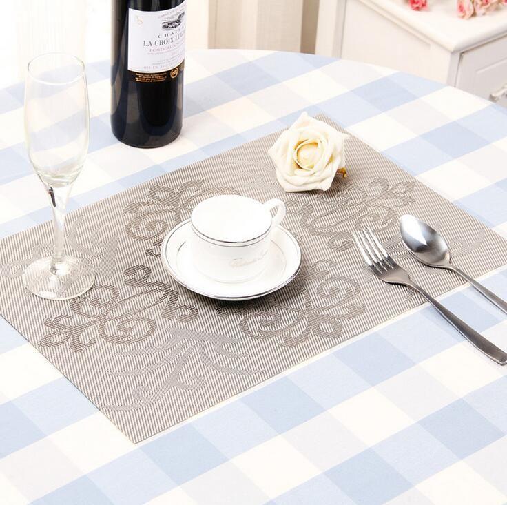 Hotsale Table Decorations 30*45cm size colorful PVC Placemat Bar Mat Plate Mat Table Mat Set Kitchen Hot Pads