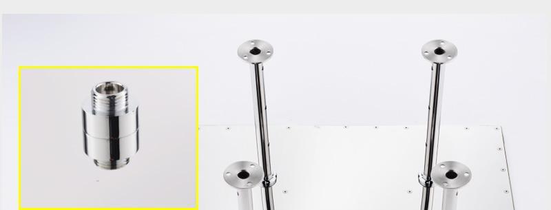 hm Bathroom Shower Head with 4 Ways SUS304 20inch Rain & Mist & Brass Slide Bar & Brass Spout & Brass Handheld Shower Set (14)