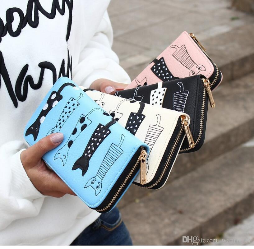 Carteras para mujer Monederos Diseñador de marca famosa Moneda Titular de tarjeta de crédito Cuero Pequeño clip de dinero Cartera Teléfono PU Cartera de cuero