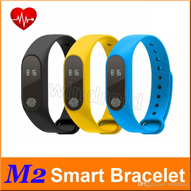 M2 Smart Bracelet Heart Rate Monitor bluetooth Smartband Health Fitness  Tracker Smart Band Wristband for Android iOS Free shipping 10pcs