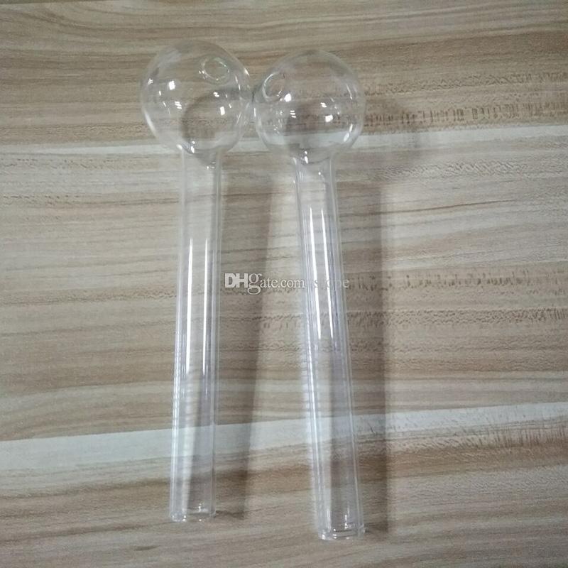 Tubo de aceite de vidrio vendedor caliente 8 pulgadas tubo grande tubo de aceite quemador de aceite tubo de aceite clavo grueso claro envío gratis