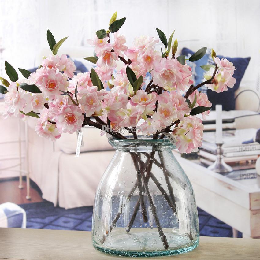 10pcs artificiels faux fleur de cerisier fleur de soie Hydrangea Hydrangea Accueil Jardin Décor Partie Décorations de mariage Nouveau