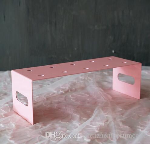 3PCS / Set 케이크 푸시 팝스 제품 디스플레이 스탠드 핑크 시리즈 테마 웨딩 메탈 케이크 스탠드