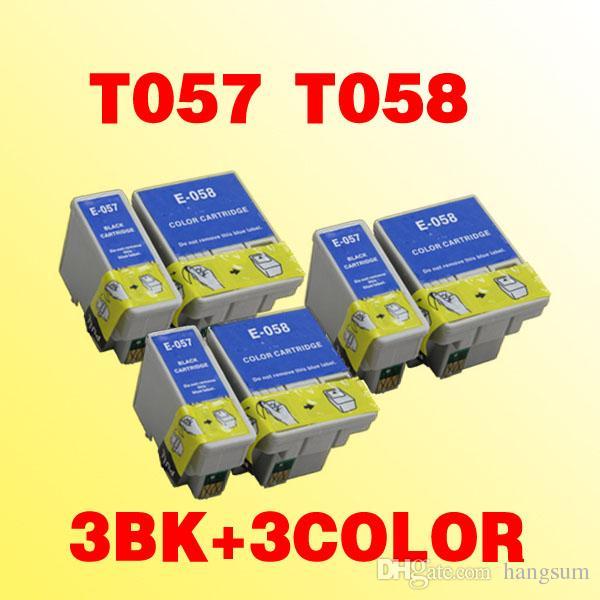 cartuccia di inchiostro 6x T057 T058 ME1 compatibile per Epson Stylus ME1 ME1 ME100 + 057 058