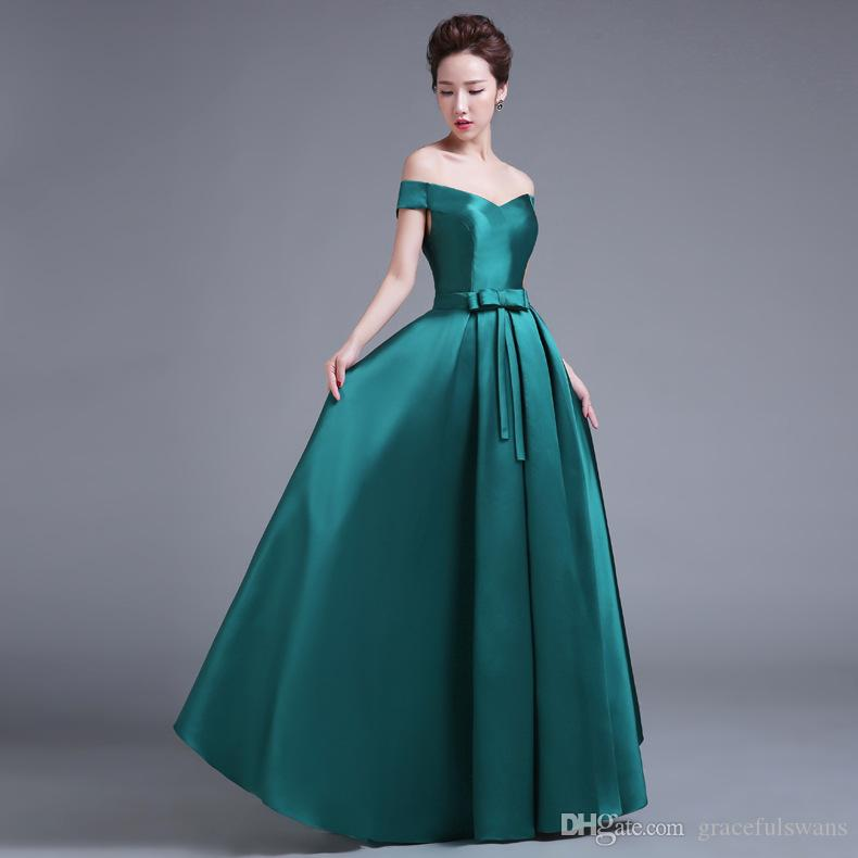 Burgundy Satin A-Line Long Evening Dress Gowns for Women Sweetheart Off the Shoulder Elegant Formal Dresses Cheap Bow Waist Robe Soiree