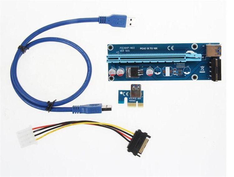 6 PCS USB 3.0 Pcie PCI-E Express 1x To 16x Extender Riser Card Adapter BTC Cable