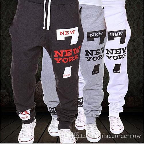 Yeni Sıcak erkek Jogging Yapan Dans Sportwear Baggy Rahat Pantolon Pantolon Sweatpants Dulcet Serin