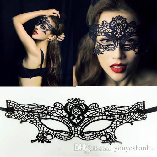 10 pc 2016 Nouvelles Filles Femmes Ventes Chaudes Noir Sexy Dame Dentelle Masque Masque Contour Des Yeux pour Le Parti De Mascarade Costume