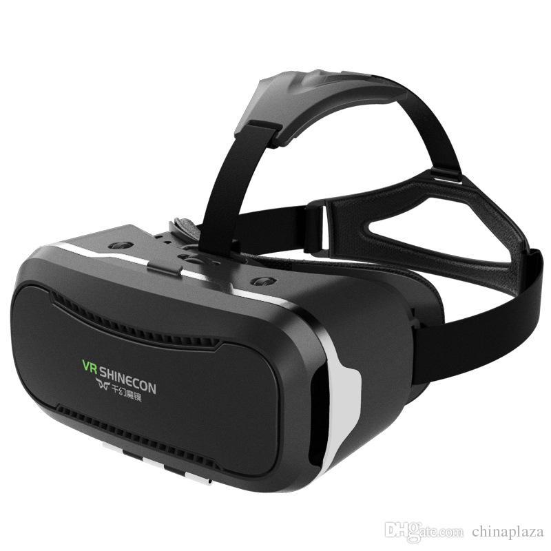 """Atacado-VR SHINECON 2nd VersionVirtual Realidade Óculos Fone De Ouvido para Vídeos em 3D Filmes Jogos Compatíveis com a Maioria Dos 3.5 """"-6.0"""" iPhone"""