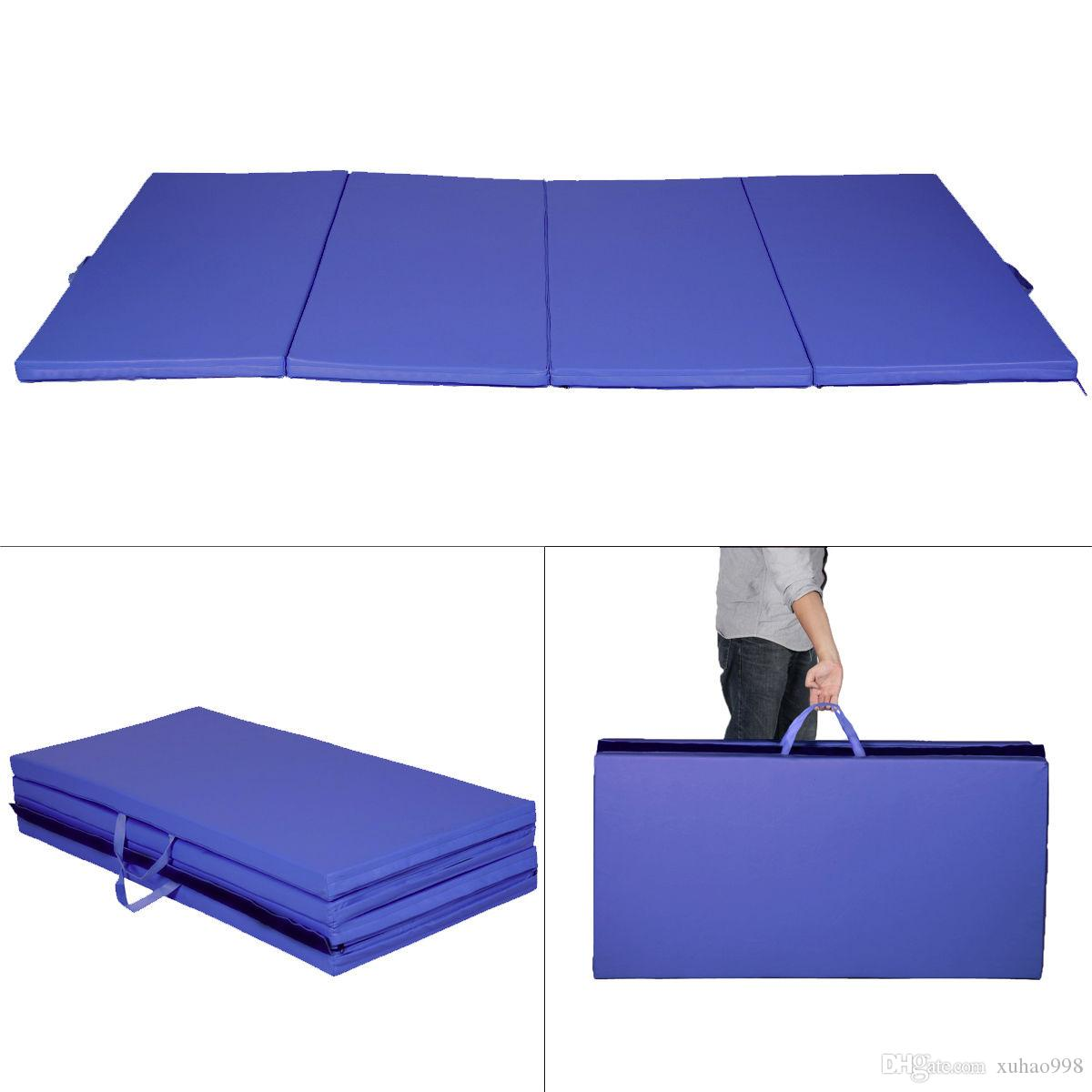 2019 New Blue 4 X8 X2 Gymnastics Mat Thick Folding Panel Gym Fitness Exercise Mat From Xuhao998 70 35 Dhgate Com