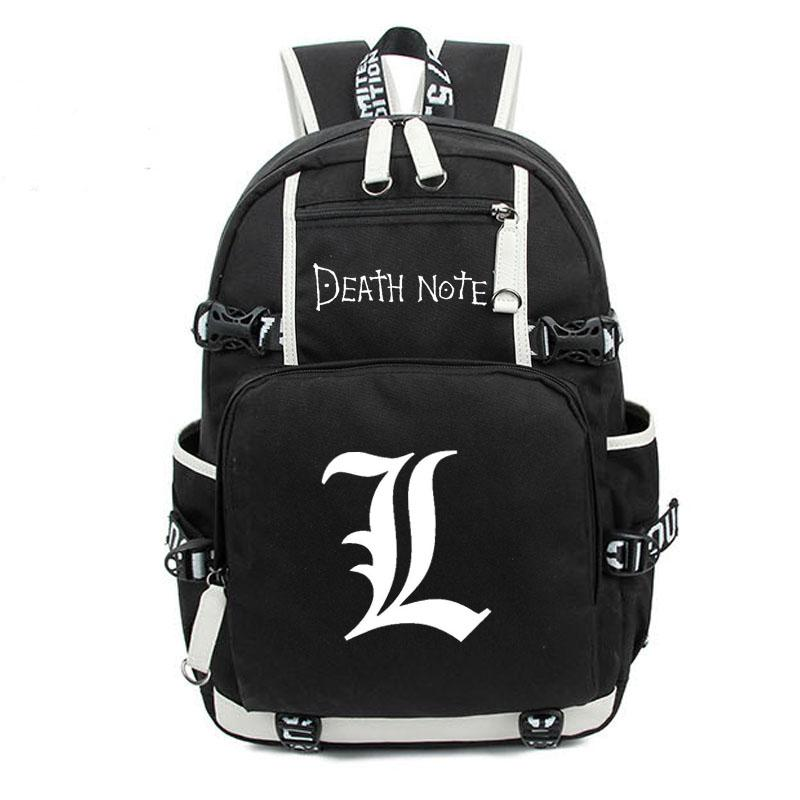 Wholesale- Japan Anime Death Note Backpack Large Oxford Luminous Printing Shoulder Bag for Boys Girls Travel Laptop Book Bags