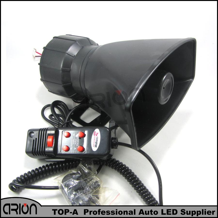 Loud Horn Siren 12V for Car Speaker 5 Sounds Tone PA System 60W Max 300db