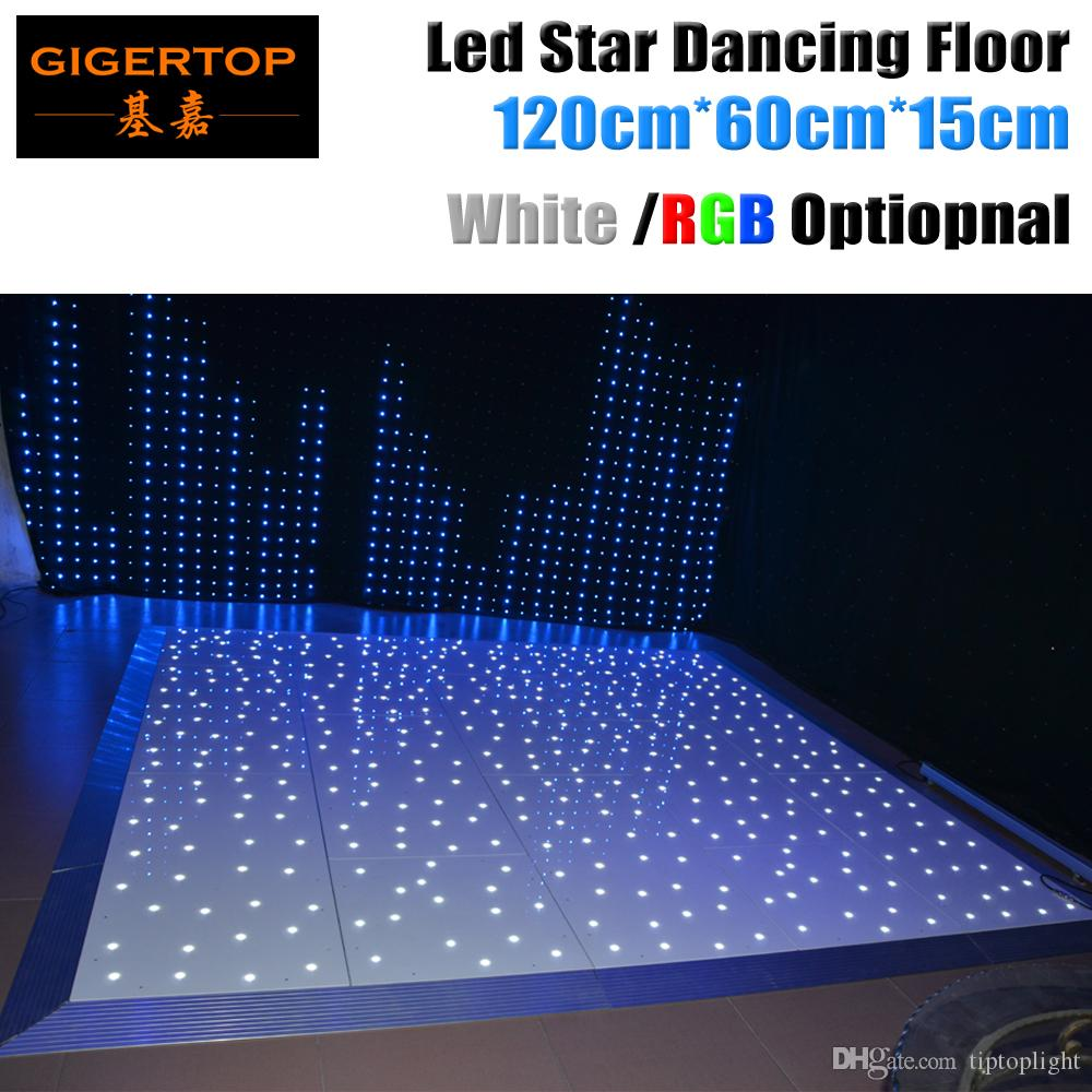 Design in Great Britain 120cm x 60cm Led Dance Floor Panel CE Rohs Dancing Floor Stage Light White Star Shinning Wireless Remote