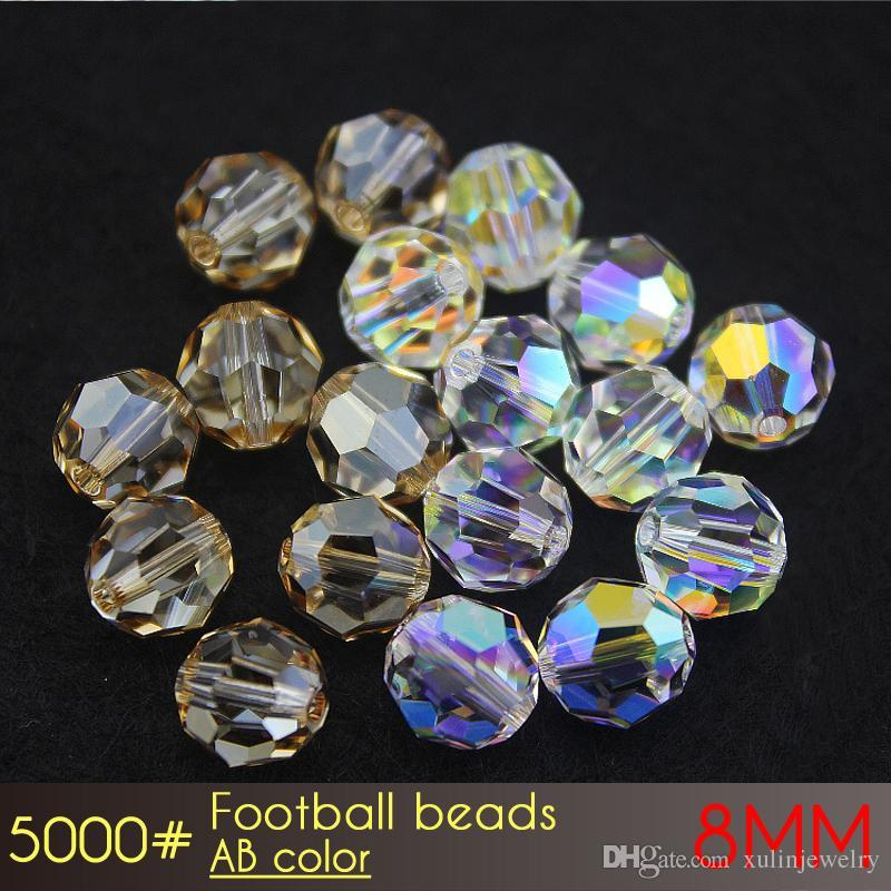 Jewelry Make Sutballビーズ8mm ab色A5000 72個/セットラウンドカーテンガラスビーズ