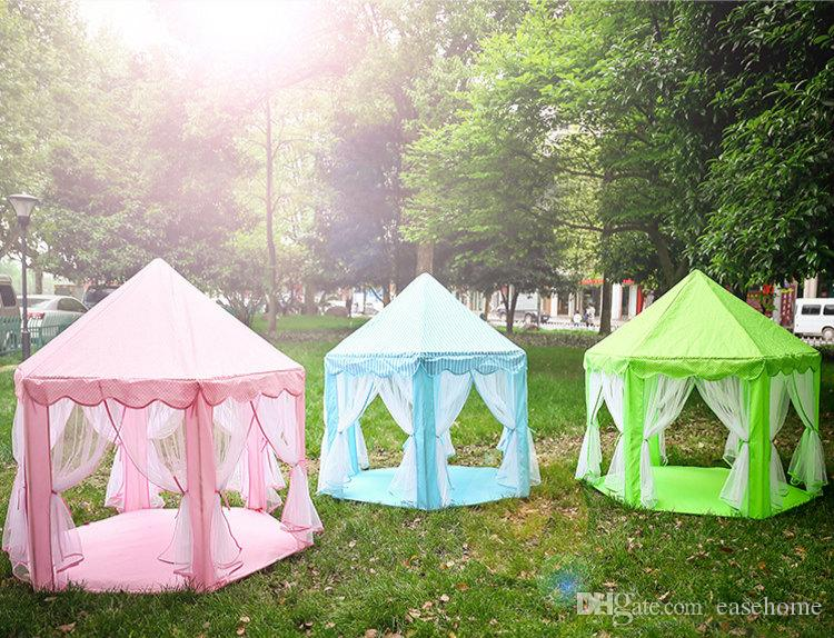 Hot sale mini playing tent Princess castle style for Children play games in 3 colors out door sports camping