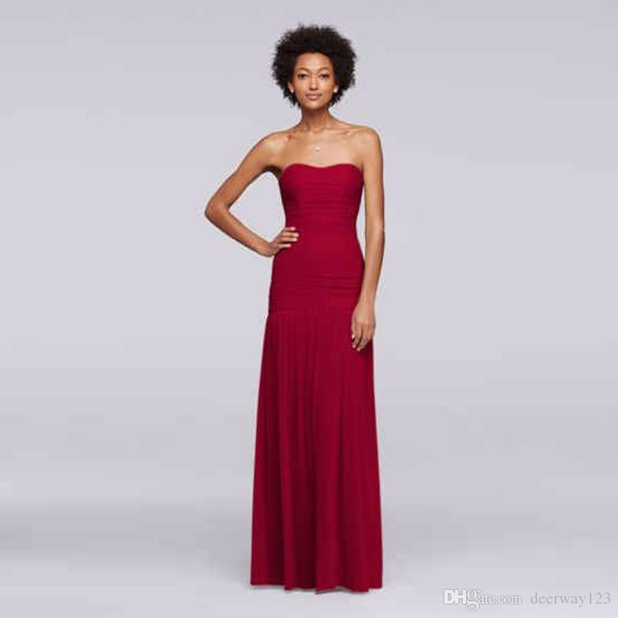 Long Fit and Flare Mesh Dropped Waistline Bridesmaid Dress F18076 Wedding Party Dress Evening Dress Formal Dresses
