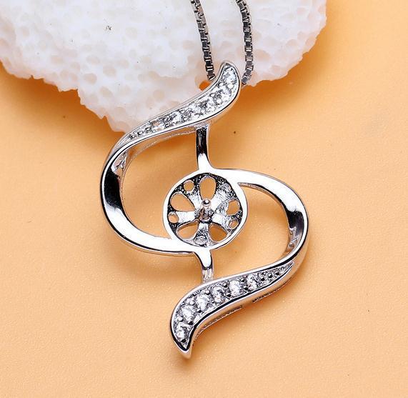 Heißer Verkaufs-natürlicher Perlen-hängender Halsketten-Großhandelszusatz verhindert Allergie DZ0222