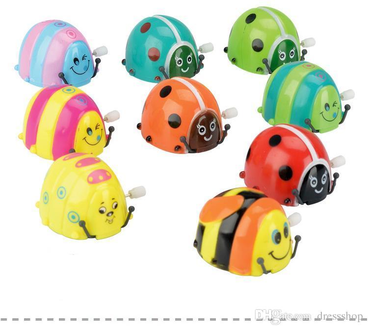Versión Q del reloj mariquita escarabajo caminando pequeña rotación de saltos mortales bebé juguetes educativos para niños