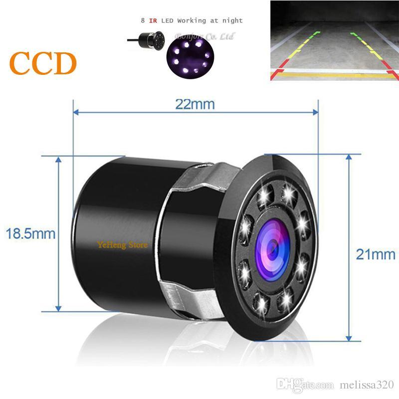 2017 جديدة للماء العالمي hd سيارة للرؤية الخلفية احتياطية الخلفية وقوف الكاميرا مع 8 ir ضوء الأشعة تحت الحمراء للرؤية الليلية