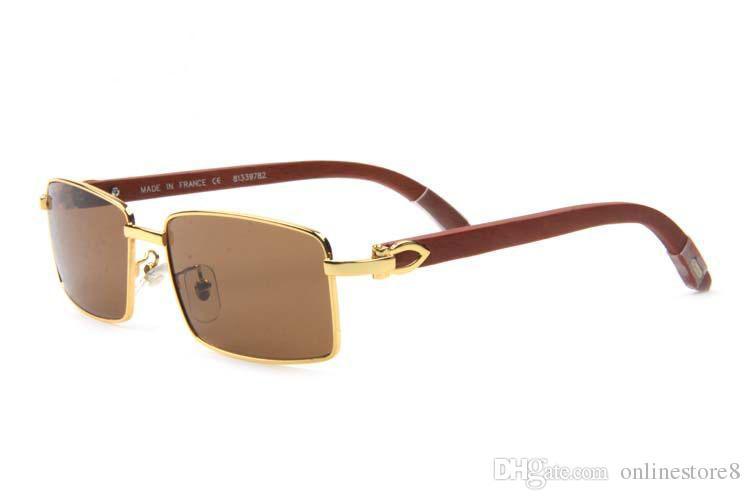Online shop Vintage Rectangle Buffalo Horn Sunglasses Mens Sun Glasses Full Frame Glasses High Quality Lunettes De Soleil De Marque