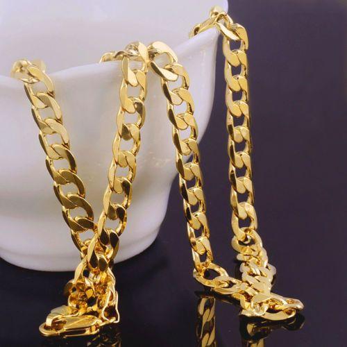 14 Kcarat حقيقي الصلبة الذهب رجل قلادة سلسلة عيد هدية عيد الحب المجوهرات القيمة