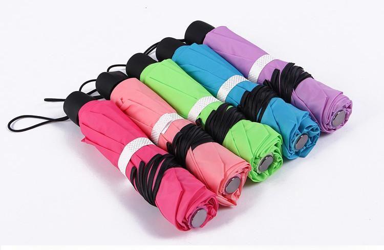 Candy Color Princess ruffle folding scalloped sun rain protection manual umbrellas for Christmas gift Free shipping