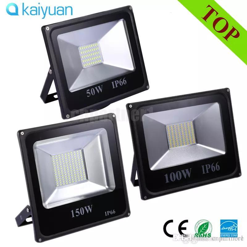الصمام الأضواء الكاشفة 30W 50W 100W 200W 300W Refletor IP66 للماء بقيادة الفيضانات مصباح LED في الهواء الطلق أضواء الشارع 85-265v AC