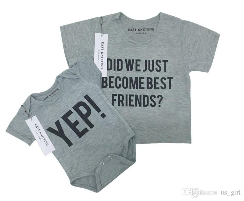 804b49b97b5b 2019 Did We Just Become Best Friends YEP Letter Baby Boy Tshirt Tops ...