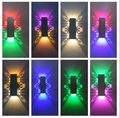 Alüminyum led ışık fikstür Yukarı ve aşağı led duvar lambası 2 W batteryfly modern moda duvar ışık kapalı / açık